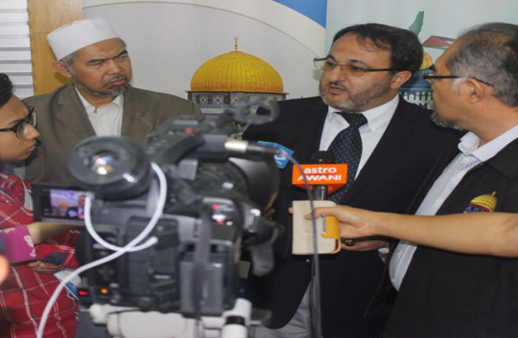 A Press Conference on the dangers of division of Al-Aqsa 2014